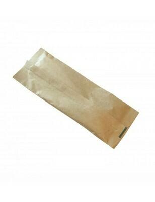 FSC® houten bestekset kraft Verpakt per 100 stuks