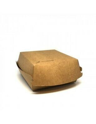 FSC® kraft hamburgerbox 160x155x90mm Verpakt per 300 stuks