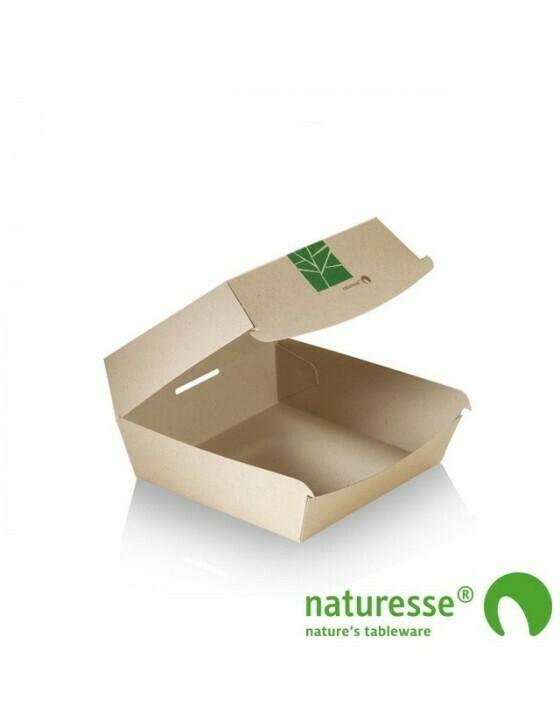 Paperwise hamburgerbox 120x120x70mm Verpakt per 50 stuks
