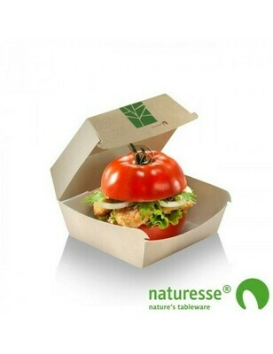Paperwise hamburgerbox 160x155x90mm Verpakt per 50 stuks