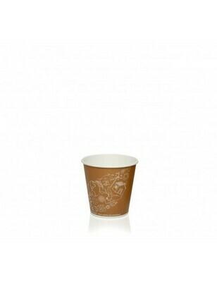 Karton/PLA koffiebeker 2oz/60ml/50mm Ø Leaf Verpakt per 2000 stuks