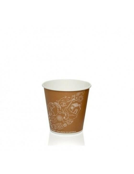Karton/PLA koffiebeker 4oz/120ml/62mm Ø Leaf Verpakt per 2000 stuks
