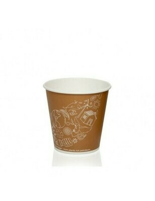 FSC® karton/PLA koffiebeker 7oz/210ml/73mmØ Leaf Verpakt per 2000 stuks