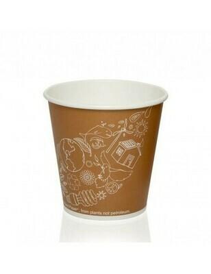 FSC® karton/PLA koffiebeker 10oz/300ml/90mmØ Leaf Verpakt per 50 stuks