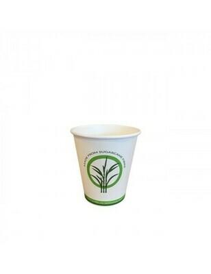 Bagasse/PLA koffiebeker 4oz/120ml/62mm Ø Verpakt per 2000 stuks