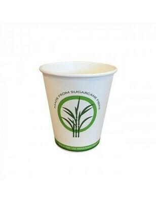 Bagasse/PLA koffiebeker 7oz/210ml/73mm Ø Verpakt per 50 stuks