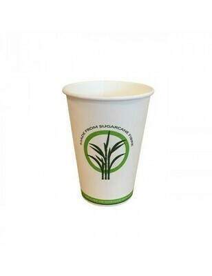 Bagasse/PLA koffiebeker 7,5oz/225ml/70mm Ø Verpakt per 100 stuks