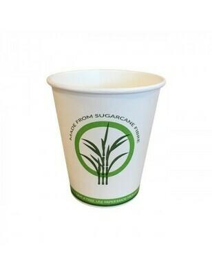 Bagasse/PLA koffiebeker 8oz/240ml/80mm Ø Verpakt per 50 stuks