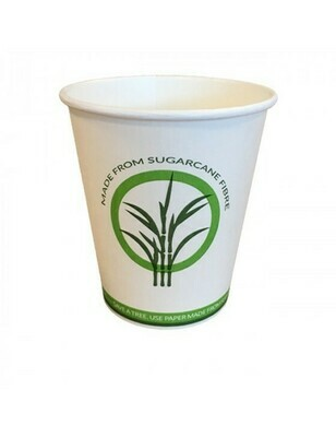 Bagasse/PLA koffiebeker 12oz/360ml/90mm Ø Verpakt per 1000 stuks