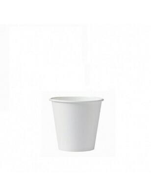 Karton/PLA koffiebeker 4oz/120ml/62mm Ø wit Verpakt per 2000 stuks