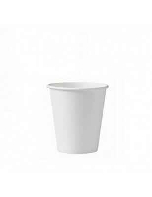 Karton/PLA koffiebeker 7oz/210ml/72mm Ø wit Verpakt per 50 stuks