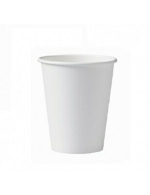 Karton/PLA koffiebeker 12oz/360ml/90mm Ø wit Verpakt per 1000 stuks