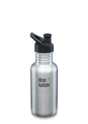Drinkfles Klean Kanteen Classic 18oz/532ml, blank geborsteld RVS.