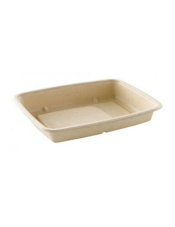 Bagasse box 650ml/227x165x28mm bruin Verpakt 300 stuks
