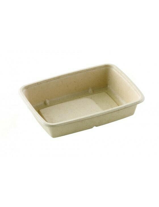 Bagasse box 950ml/227x165x48mm bruin Verpakt 300 stuks