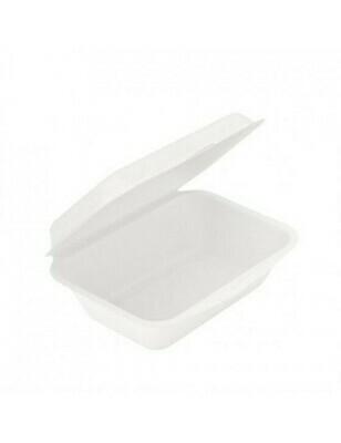 Bagasse foodbox 600ml/13,6x18,2x6,4cm Verpakt 50 stuks