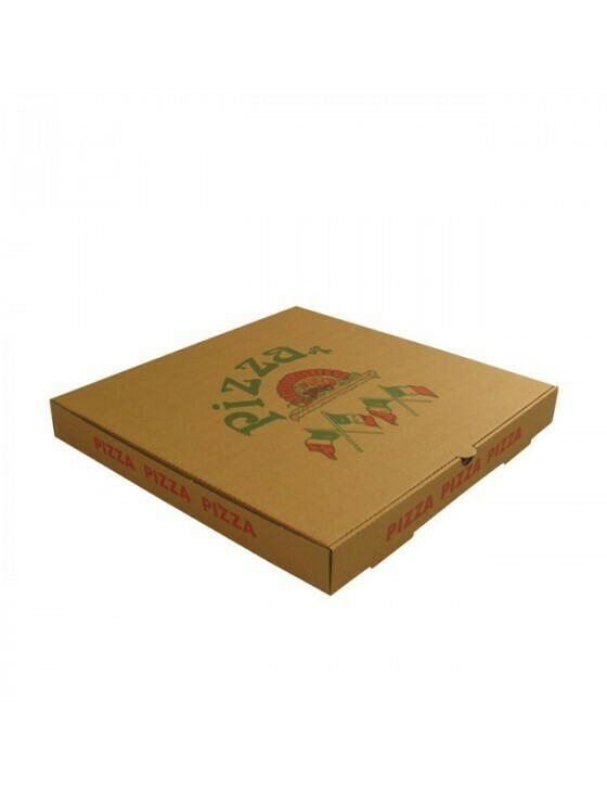 Kraft pizzadoos 28x28x4,5cm Verpakt per 150 stuks