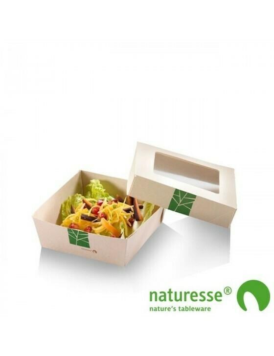 Paperwise saladebakje 600ml/135x135x50mm Verpakt per 250 stuks