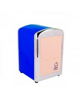 Servet dispenser voor mini servet blauw RVS Verpakt per 1 stuk
