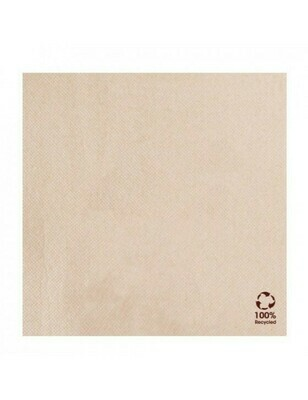Servet gerecycled/ongebleekt 39x39cm ¼ vouw DP Verpakt per 50 stuk