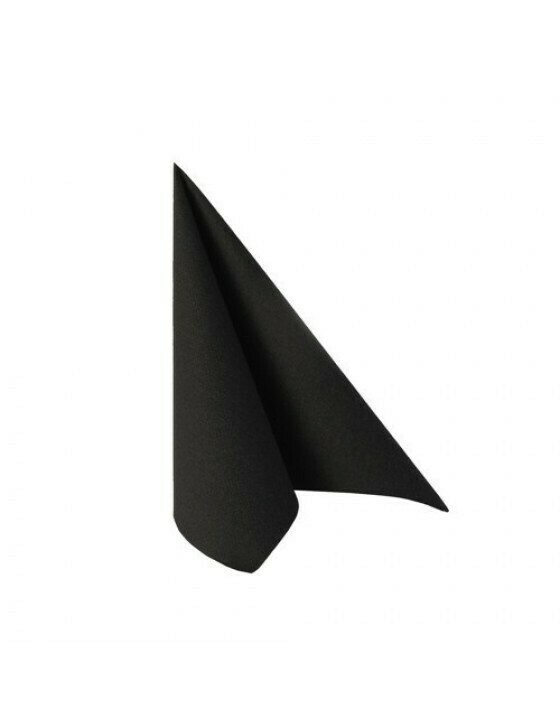 FSC® servetten luxe zwart 33x33cm ¼ vouw Verpakt per 50 stuk