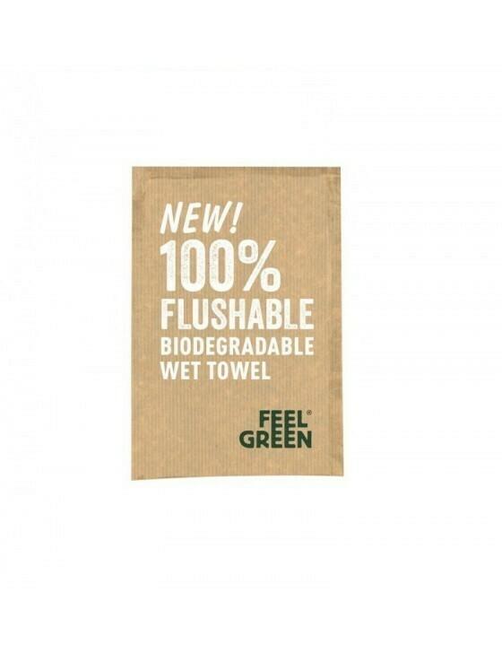 Verfrissingsdoekje natural 16x20cm/sachet 6,8x10cm Verpakt per 300 stuk