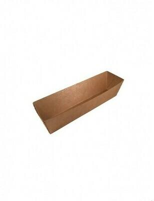 FSC® kraft/PLA coated snackbakje 114x39x35mm A5 Verpakt per 100 stuks