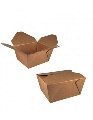 FSC® kraft/PLA take away box 750ml/110x90x63mm Verpakt per 450 stuks
