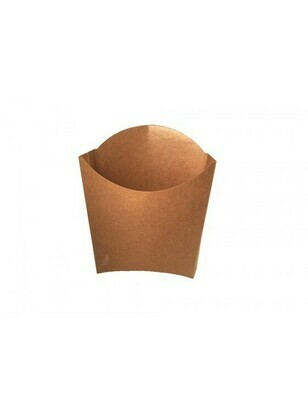 FSC® kraft/PLA frites scoop cup S 83x130x125mm Verpakt per 1000 stuks