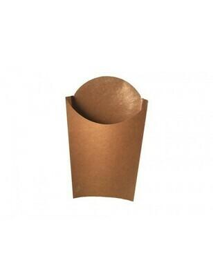 FSC® Kraft frites scoop cup L 87x133x170mm Verpakt per 1000 stuks