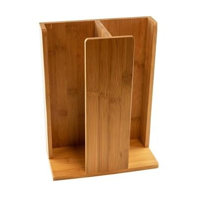 Bamboe bekerhouder 23x12x30cm 2-vaks Verpakt per 1 stuk