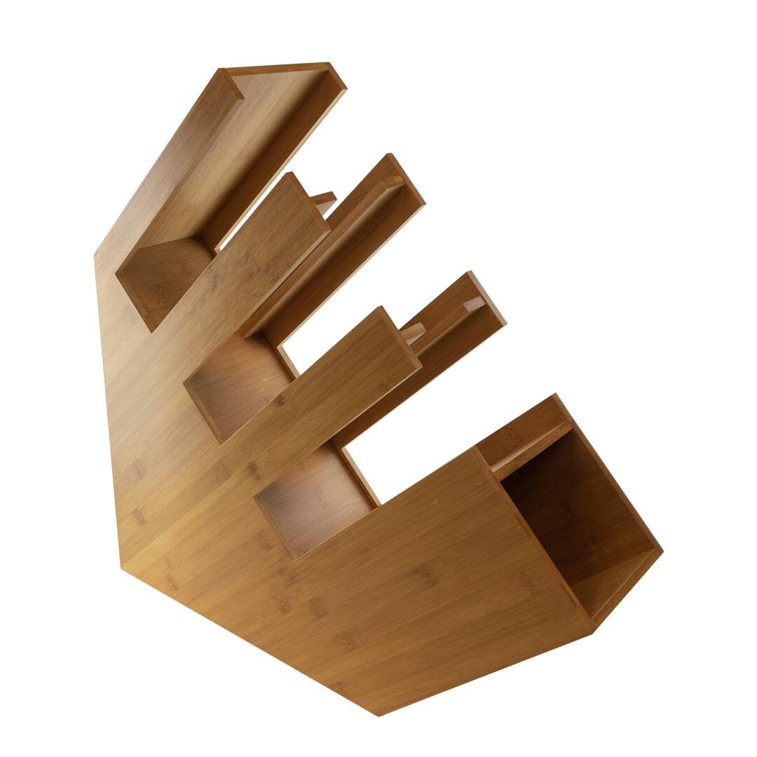 Bamboe organizer bekers/deksels/rietjes 14x50x50cm Verpakt per 1 stuk