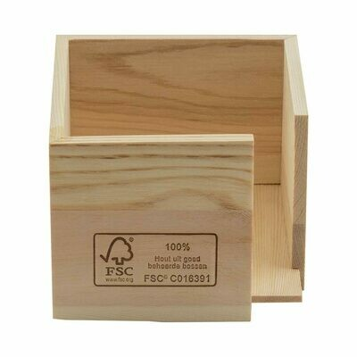FSC® houten servethouder voor 20x20cm ¼ vouw Verpakt per 1 stuk