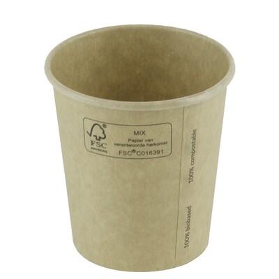 FSC® kraft/PLA koffiebeker 12oz/360ml/90mm Ø Verpakt per 50 stuks