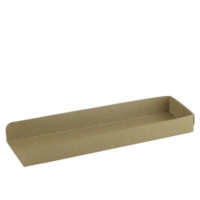 FSC® kraft/PLA panini tray 280x80x30mm Verpakt per 500 stuks