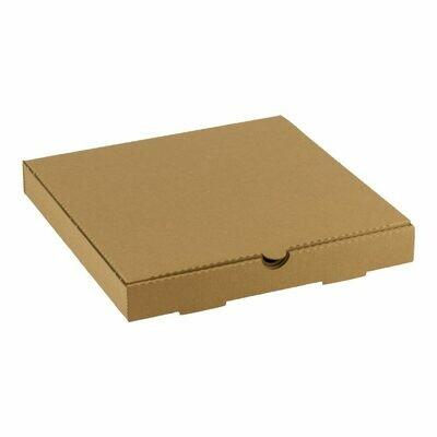 Kraft pizza doos 24x24x3cm blanco Verpakt per 150 stuks