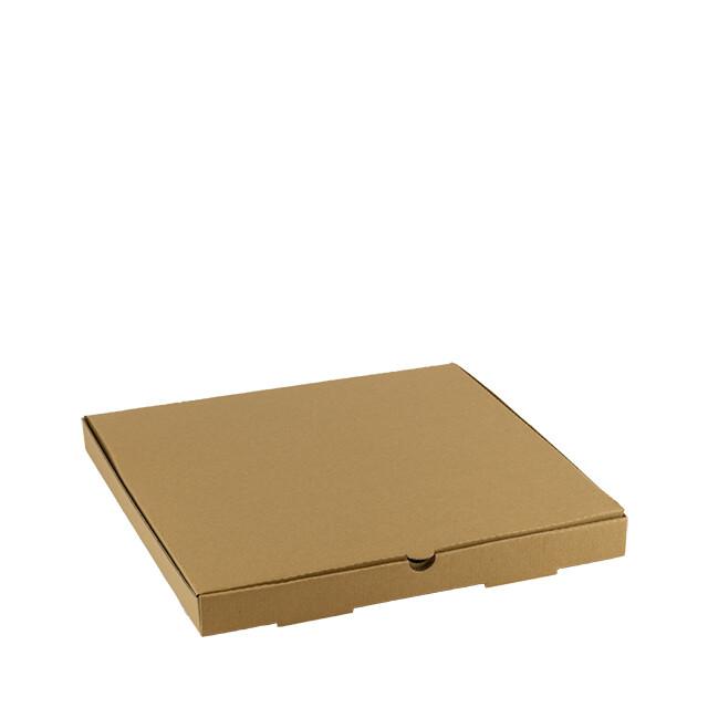 Kraft pizza doos 32x32x3cm blanco Verpakt per 150 stuks