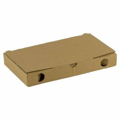 Kraft pizza slice doosje 22x12x3cm blanco Verpakt per 200 stuks