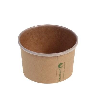 Kraft/PLA foodcontainer 3oz/90ml/75mm Ø x 45mm Verpakt per 1000 stuks