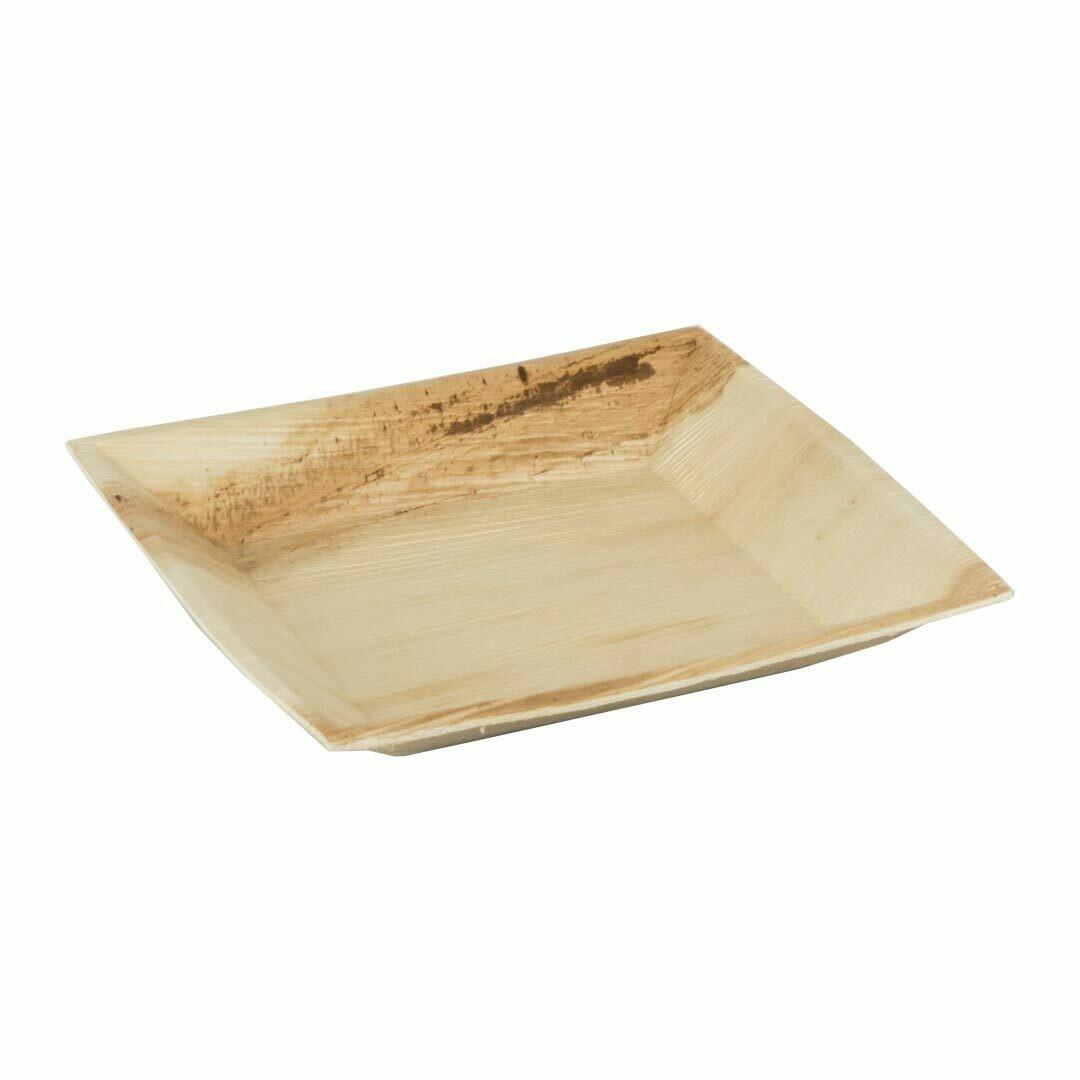 """Palmblad bord """"Cuadra"""" 18x18cm Verpakt per 25 stuks"""