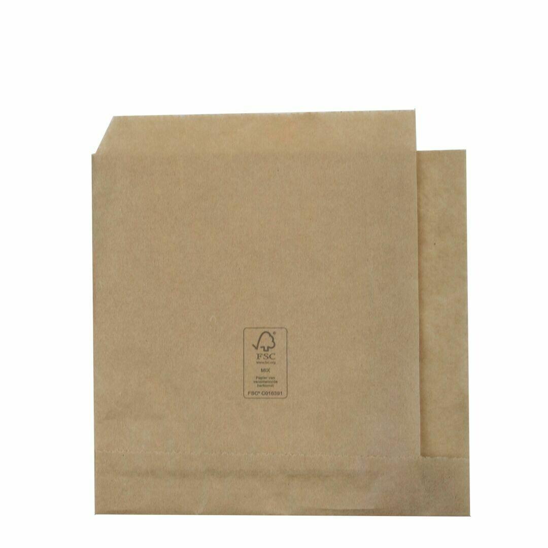 FSC® papieren hamburgerzakje 15x16cm Verpakt per 1000 stuks