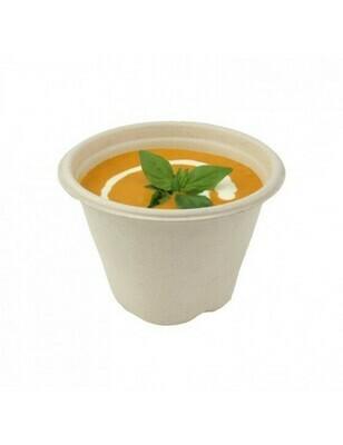 Bagasse soepbeker 500ml/13cmØ x 9cm hoog Verpakt per 100 stuks
