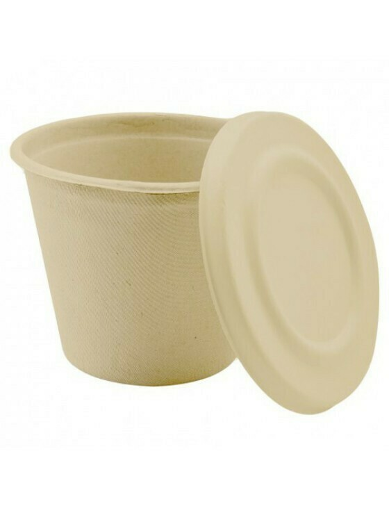 Bagasse soepbeker 425ml/105mm Ø x83mm bruin Verpakt per 500 stuks