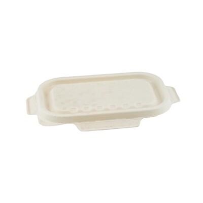 Bagasse deksel bruin voor maaltijdbak 500/650ml  Verpakt per 125 stuks