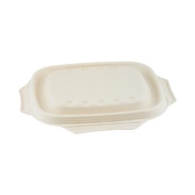 Bagasse deksel bruin voor maaltijdbak 850/1000ml  Verpakt per 125 stuks