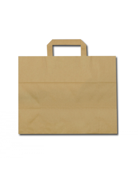 FSC® papieren blokbodemtas bruin 26+17x26cm Verpakt per 400 stuks
