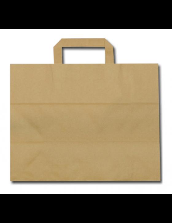 FSC® papieren blokbodemtas bruin 32+18x26cm Verpakt per 300 stuks