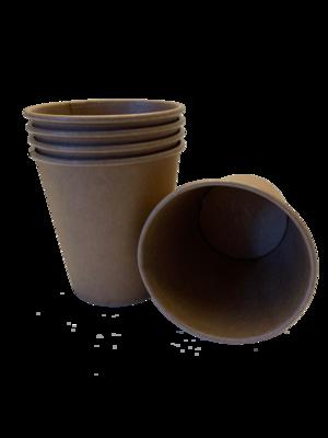 Kraftpapier koffiebekers 180ml, 50 stuks
