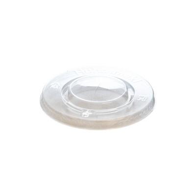 PLA deksel plat 95mm Ø met kruisgat, verpakt per 100 stuks