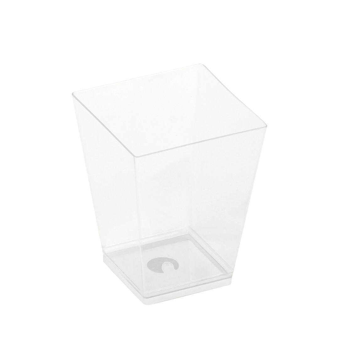 PLA amusebakje Kova 220ml 7x7x7,2cm, verpakt per 50 stuks